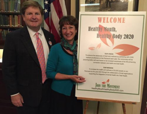 Pictured: Mac Williams, President and Dr. Lisa Marie Samaha